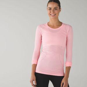 Lululemon Tech long sleeve  pink light shirt